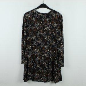 GLAMOROUS Kleid Gr. M schwarz orange geblümt (20/01/057)