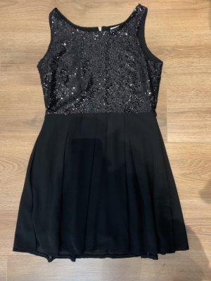 Glamorous Kleid M 38 Pailetten Gold P&C Reisverschluss Chiffon