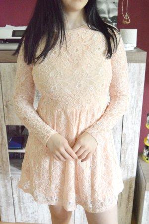 Glamorous Kleid rose mit spitze gr.M