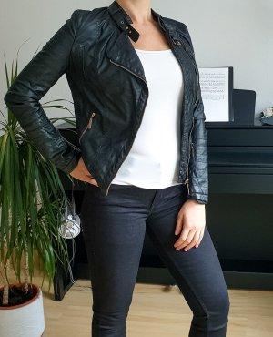 Glamorous Kunstlederjacke Lederjacke schwarz