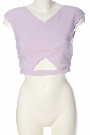 Glamorous Short Sleeved Blouse lilac casual look