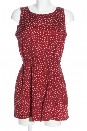Glamorous Kurzer Jumpsuit red-natural white spot pattern casual look