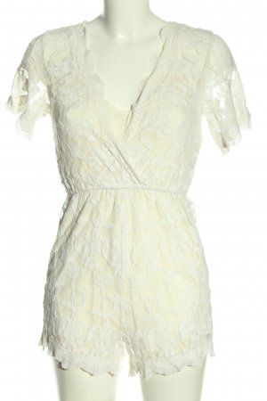 Glamorous Kurzer Jumpsuit white elegant
