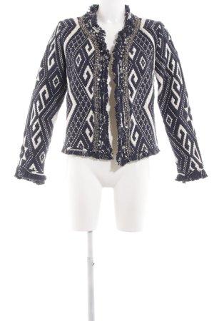 Glamorous Kurzjacke schwarz-weiß abstraktes Muster Elegant