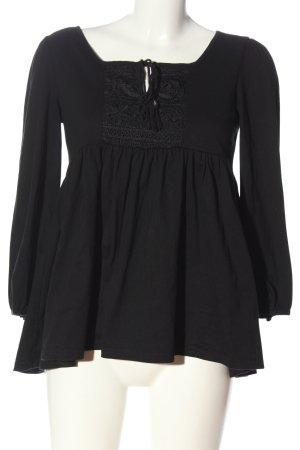 Glamorous Langarm-Bluse schwarz Casual-Look