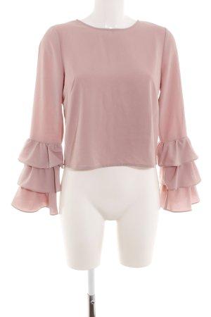 Glamorous Langarm-Bluse pink Elegant