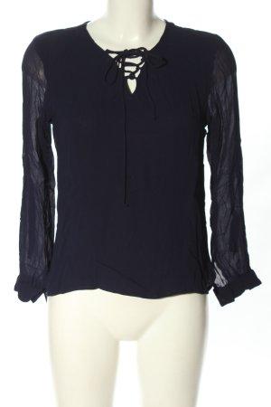 Glamorous Langarm-Bluse schwarz extravaganter Stil