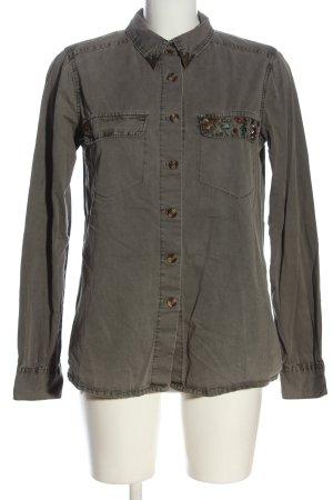 Glamorous Long Sleeve Shirt light grey casual look