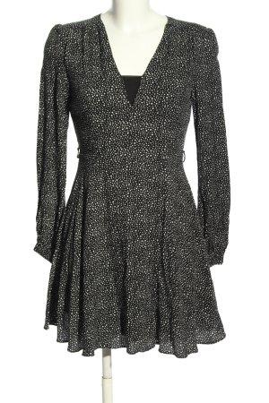 Glamorous Longsleeve Dress black-white abstract pattern elegant