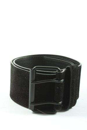 Glamorous Cinturón de cuero de imitación negro look casual