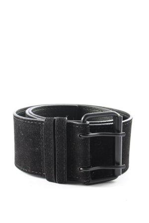 Glamorous Lederimitatgürtel schwarz Casual-Look