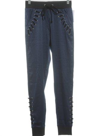 Glamorous Leggings dunkelblau-schwarz Glanz-Optik