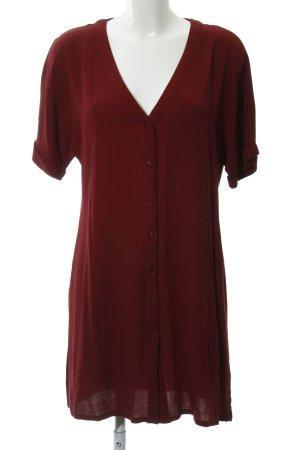 Glamorous Long-Bluse dunkelrot Street-Fashion-Look
