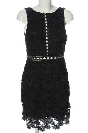 Glamorous Midikleid schwarz Webmuster Elegant