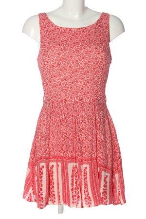 Glamorous Minikleid pink-weiß Allover-Druck Casual-Look