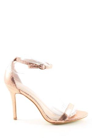 Glamorous Riemchen-Sandaletten goldfarben Elegant