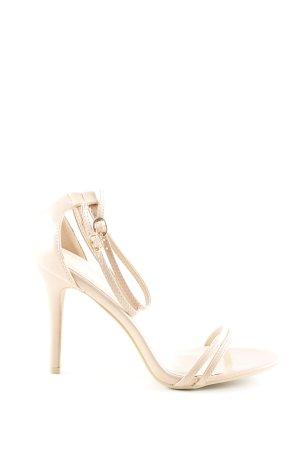 Glamorous Riemchen-Sandaletten nude Elegant