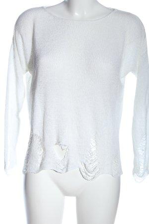 Glamorous Rundhalspullover weiß Casual-Look
