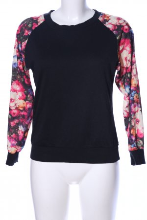 Glamorous Rundhalspullover Blumenmuster Casual-Look