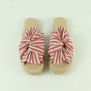 Glamorous Sandalias de playa blanco-rojo ladrillo