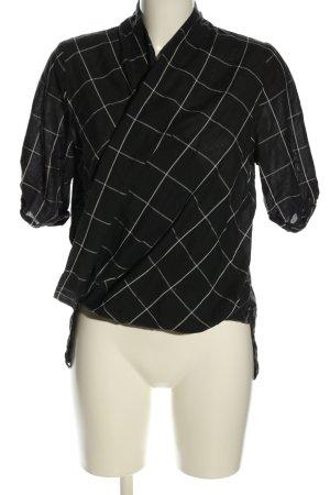 Glamorous Schlupf-Bluse schwarz-weiß Allover-Druck Casual-Look