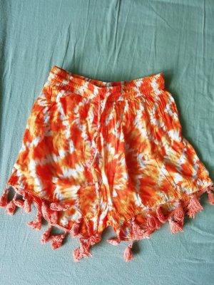 Glamorous Shorts Highwaist Batik Dip Dye Hippie Boho Ethno Ibiza