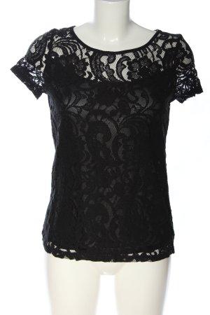 Glamorous Blouse en dentelle noir élégant