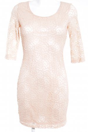Glamorous Lace Dress nude flower pattern elegant