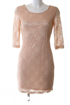 Glamorous Robe en dentelle rose chair élégant