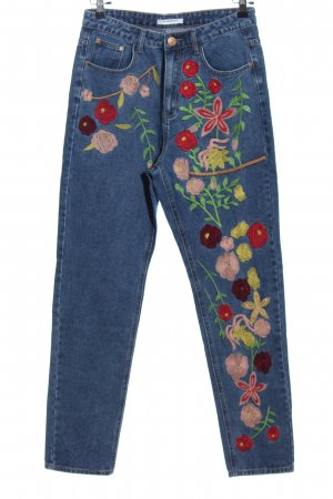 Glamorous Straight-Leg Jeans Blumenmuster Casual-Look