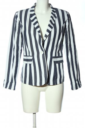 Glamorous Knitted Blazer blue-white striped pattern casual look