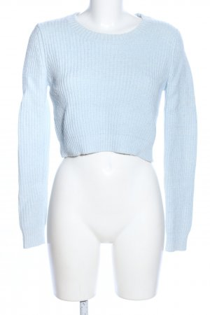 Glamorous Strickpullover blau Zopfmuster Casual-Look
