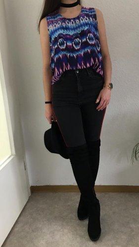 Glamorous Top mit blau/rosé Print