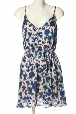 Glamorous Trägerkleid creme-blau Allover-Druck Casual-Look