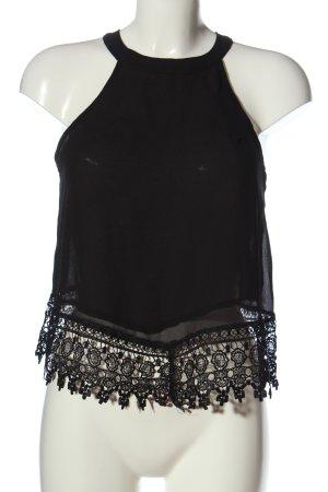 Glamorous Transparent Blouse black casual look