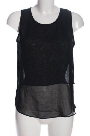 Glamorous Transparenz-Bluse schwarz Casual-Look