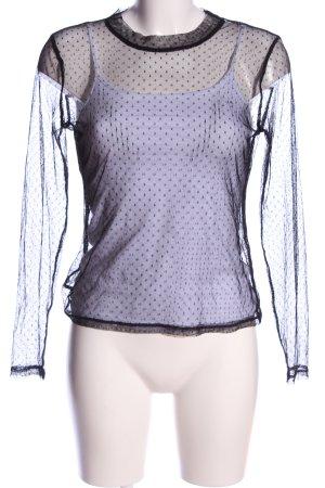 Glamorous Transparenz-Bluse schwarz extravaganter Stil