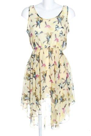 Glamorous Vokuhila-Kleid Allover-Druck Casual-Look