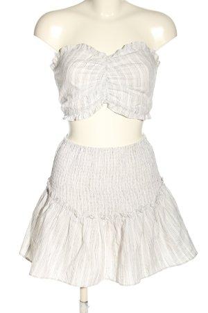 Glamorous Woven Twin Set white striped pattern elegant