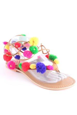 Glamorous Zehentrenner-Sandalen mehrfarbig Boho-Look