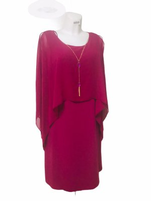 Glamour Damen Kleid Organza Brimbeere L