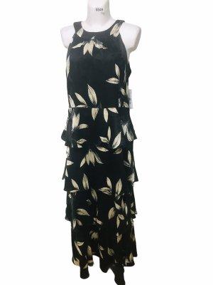Glamour Damen Ruffel Kleid schwarz L(14)