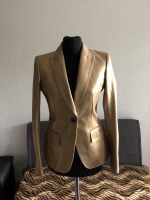 Mauro Grifoni Blazer de esmoquin color oro