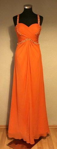 Glamouröses NEUES orangefarbene, sexy Abendkleid Gr.36/38