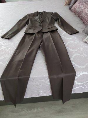 Edc Esprit Spodnie garniturowe szaro-brązowy