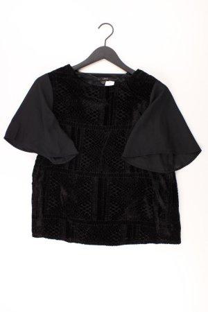 Glanzende blouse zwart Viscose