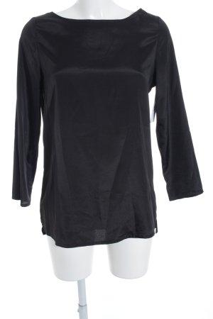 Glanzende blouse zwart Katoen