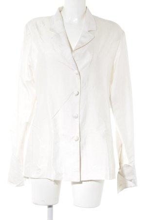 Połyskująca bluzka w kolorze białej wełny Elegancki