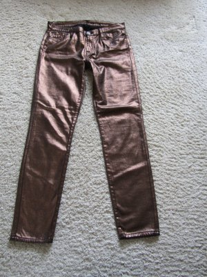 7 For All Mankind Trousers rose-gold-coloured mixture fibre