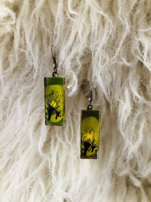 Glas-Ohrringe mit Motiv